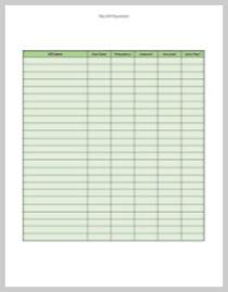 My Bills Worksheet